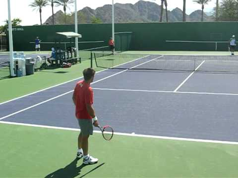 Janko Tipsarevic practice hit Indian Wells Tennis Garden March 12 2009 Video