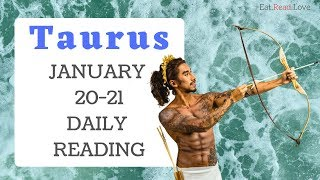 "TAURUS DAILY ""KARMIC LESSON THAT HAS YOU CRAZY"" JAN 20-21 TAROT READING"