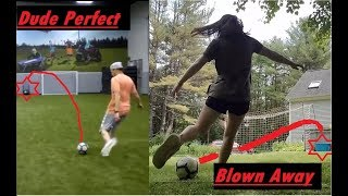Recreating Dude Perfect's Real Life Trick Shots | Blown Away