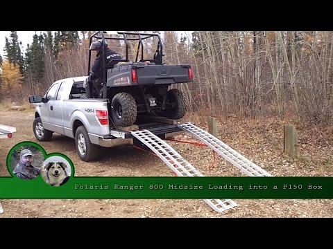 Polaris Ranger 800 Midsize Loading into a F150 Box
