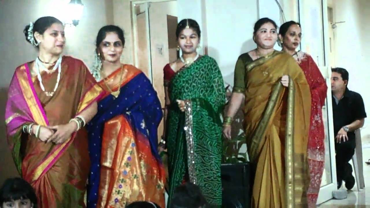 Ganapati Festival Saree Fashion Show Youtube