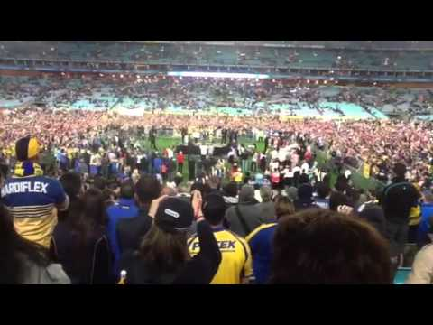 Hindy&#039;s funny retirement speech at ANZ Stadium.
