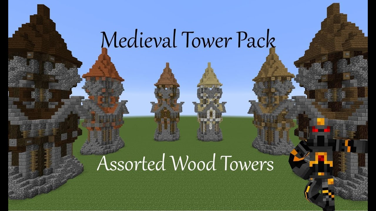 how to build a medieval tower in minecraft