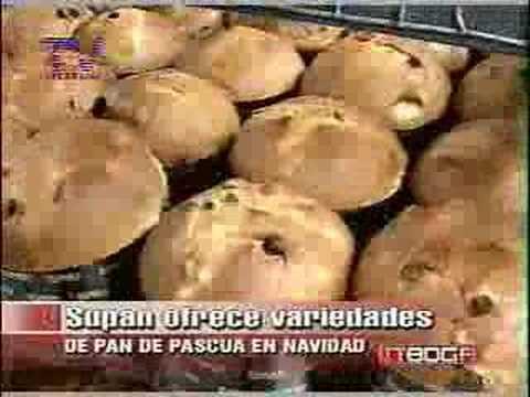 Pan de pascua en navidad