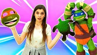 Игры Ниндзя: ищем Микеланджело. Черепашки Ниндзя в ToyClub. Видео для детей