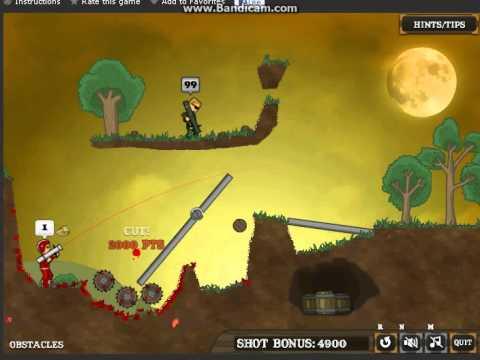 flaming zombooka 3carnival walkthrough levels 613 youtube