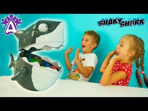 Акула с огромной пастью Детские видео и игры Для детей. Новая игрушка Видео для детей Друзяки.