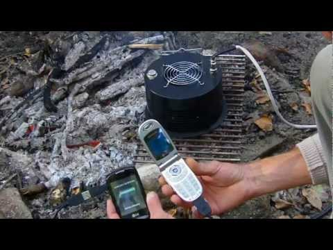 Camp Amp 8 Thermoelectric Power Generator on Camp Fire