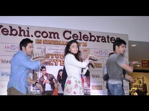 Alia, Varun And Siddharth Dancing On 'disco Deewane' video