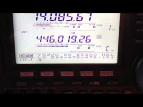 Icom IC-9100 +23 cm + Dstar -  Internal Rtty Test on 14.085.67 Mhz 18.03.2012 17:27h