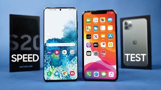 Galaxy S20 Ultra vs iPhone 11 Pro Max Speed Test!