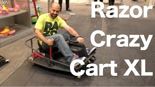 Razor Crazy Cart XL, First Look Toy Fair 2015, Drifting, Spinning Fun!