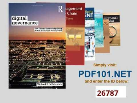 Digital Governance New Technologies for Improving Public Service and Participation