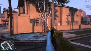 Grand Theft Auto 5 Gang Wars Gold AK-47 Game Play