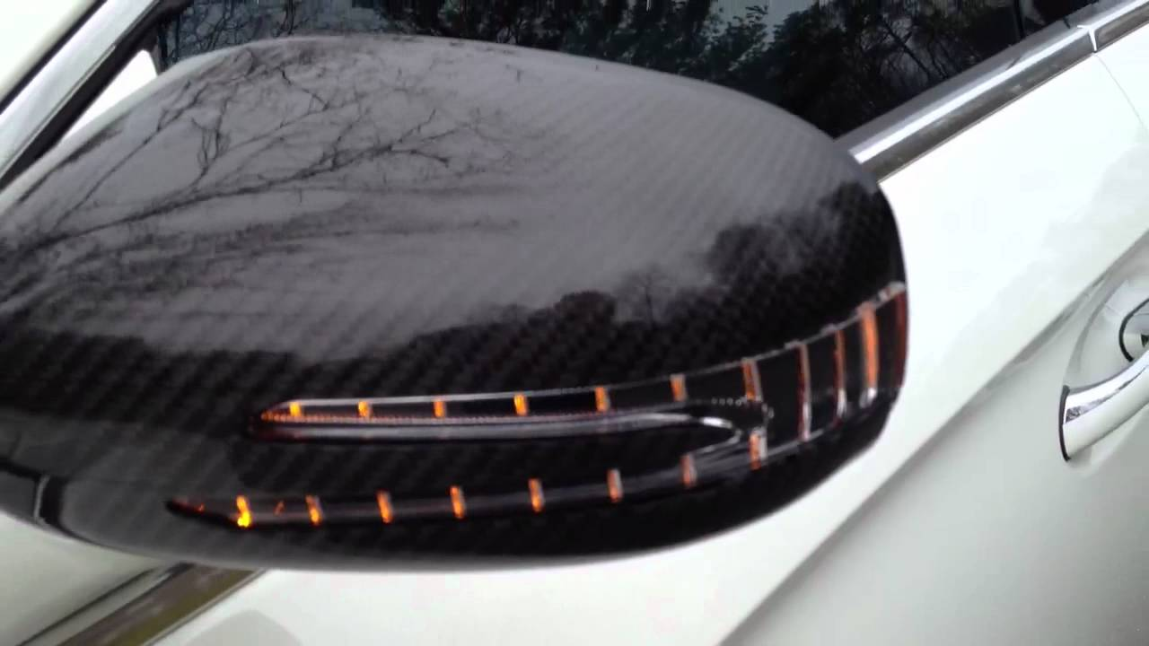 Mercedes Cls Carbon Fiber Side View Mirror Covers From