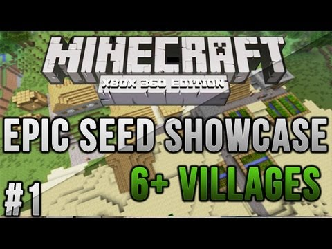 Minecraft Xbox 360/PS3: 6 Village Seed! + Diamonds!   MCXBLA/PS3 Seeds   Ep. 1