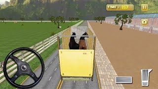 Horse Transport Truck Simulator Driving Game || Horse Games to play || Kids Games 3D Gameplay