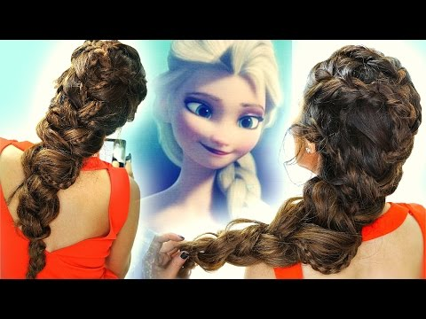 ★ FROZEN ELSA's BRAIDS in BIG Braid HAIR TUTORIAL | CUTE HAIRSTYLES