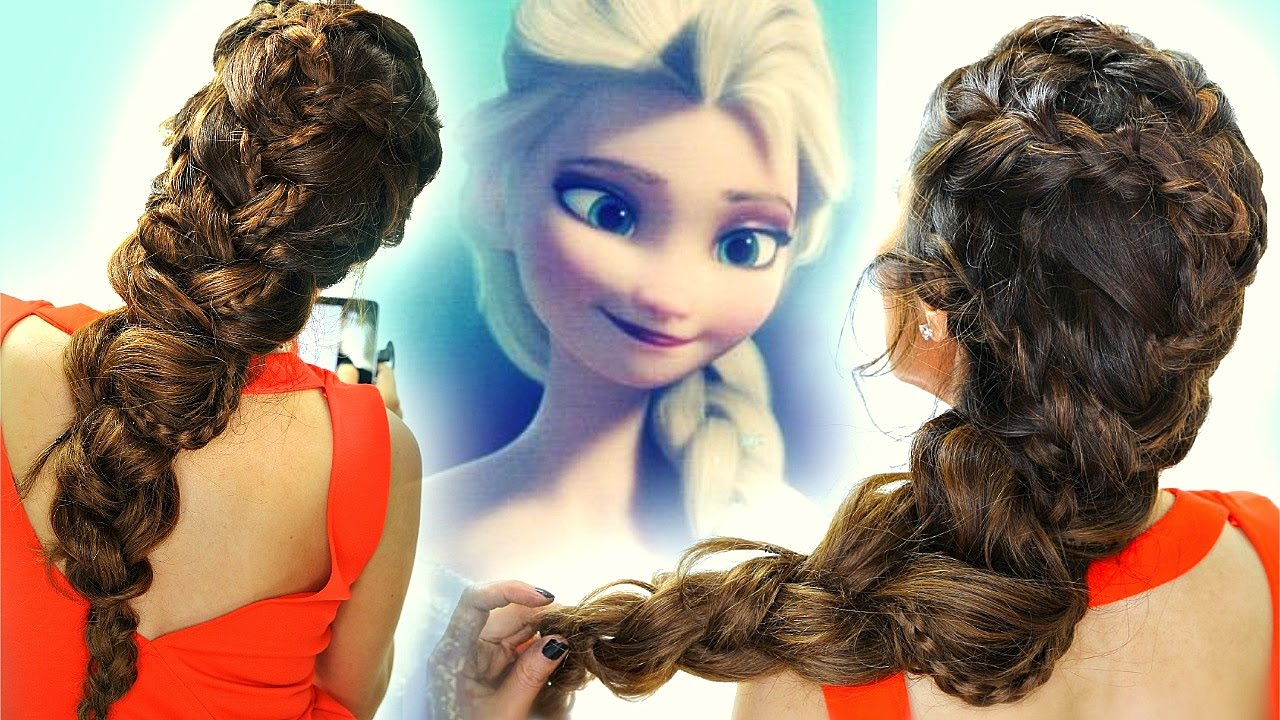 Frozen Elsa S Braids In Big Braid Hair Tutorial Cute