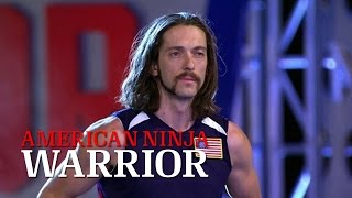 Isaac Caldiero at Stage 3 of American Ninja Warrior USA vs. The World 2015  | American Ninja Warrior