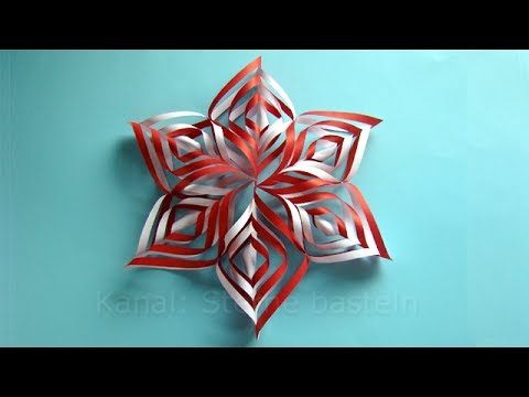 weihnachtsbasteln sterne basteln mit papier f r weihnachten youtube. Black Bedroom Furniture Sets. Home Design Ideas