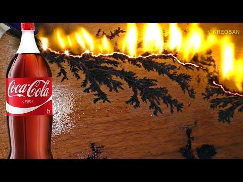 ✅Узоры МОЛНИИ своими руками из Кока-Колы и МИКРОВОЛНОВКИ ⚡👍 фигуры лихтенберга