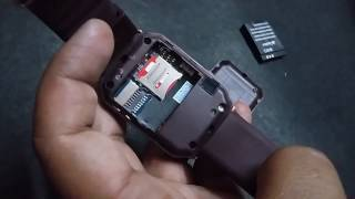 how to put sim card and memory card in smartwatch(in hindi)