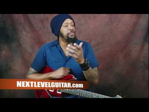 Learn and create funky Dave Matthews Band inspired licks using exotic scales electric guitar lesson
