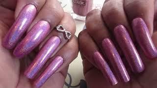 DIY Manicure Sunday #151 Pink Holo Nails