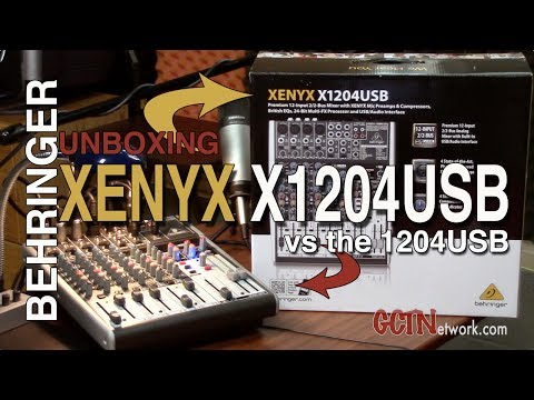 Behringer Xenyx X1204USB Unboxing   For Podcasting