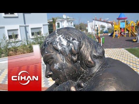 Berkin Elvan'ın ölüm yıldönümünde heykeli tahrip edildi