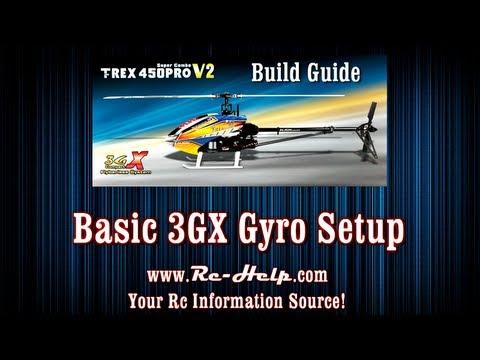 Align 450 Pro V2 3GX Build Guide Part 7 Basic Gyro Setup