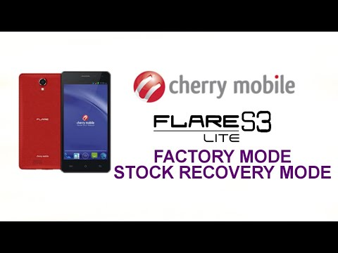 Cherry Mobile Flare S3 Lite's Factory Mode & Stock Recovery Mode