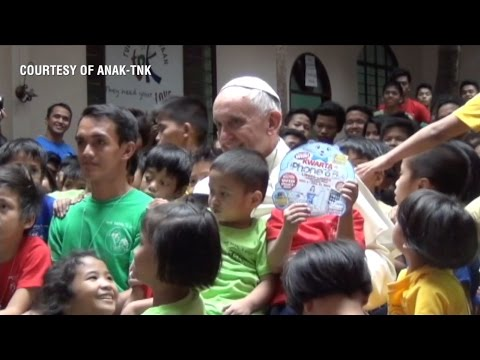 Pope Francis meets street kid who wants to be pope