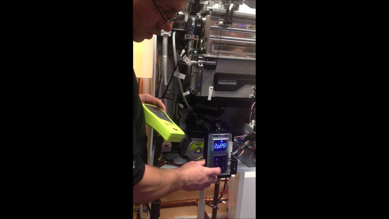 Navien Npe Tankless Water Heater Programing Setup Youtube