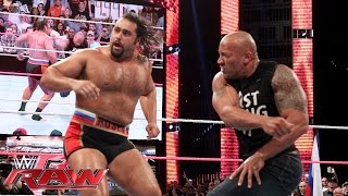 The Rock Confronts Rusev Raw Oct 6 2014