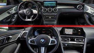 2019 Mercedes-Benz C300 vs 2019 BMW M850i Interior Design Detailed