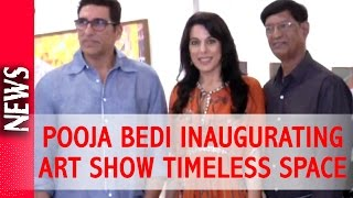 Latest Bollywood News - Pooja Bedi Inaugurates Padmanabh Bendres Art Show - Bollywood Gossip 2016