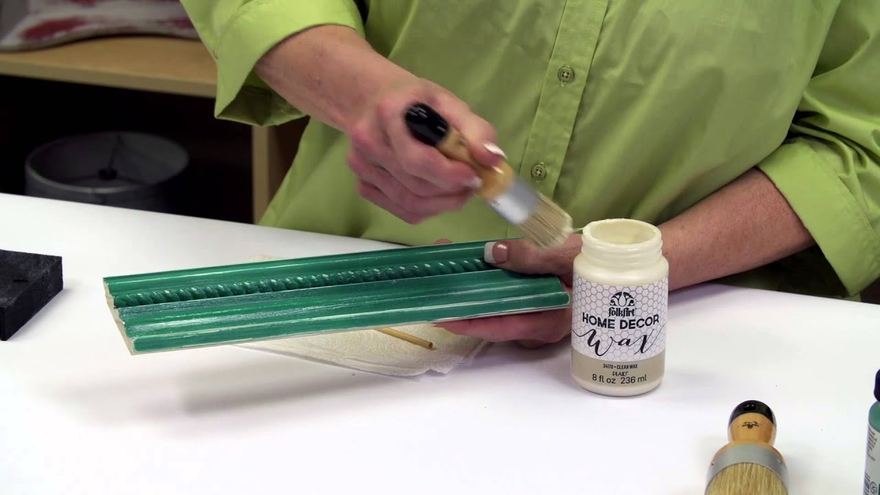 Folkart home decor learn how to use clear wax youtube for How to learn to decorate your home