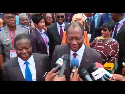 Arrivée du Président de S.E.M. Alassane OUATTARA, à Daoukro