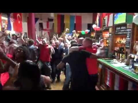 England v Wales: Fans react to winning Daniel Sturridge goal in Wolverhampton's Hog's Head and Lille