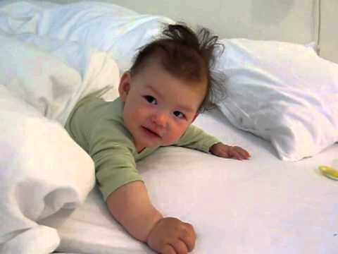 Super cute baby wakes up!