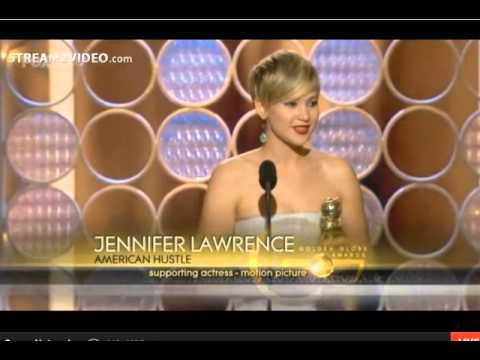 Golden Globe Awards 2014: JENNIFER LAWRENCE  Wins Best Supporting Actress AMERICAN HUSTLE