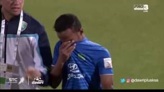 حزن لاعبي الفتح بعد التعادل مع الباطن في الجولة 10 من دوري جميل