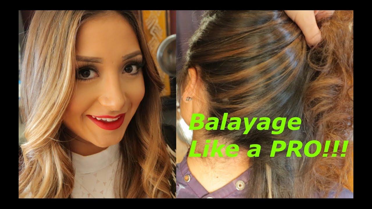 How To Balayage Like A Pro Step By Step Youtube