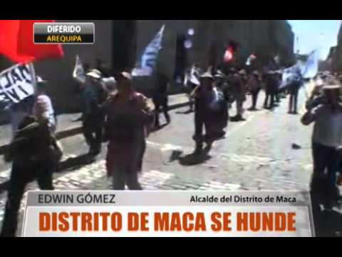 Distrito De Maca Se Hunde