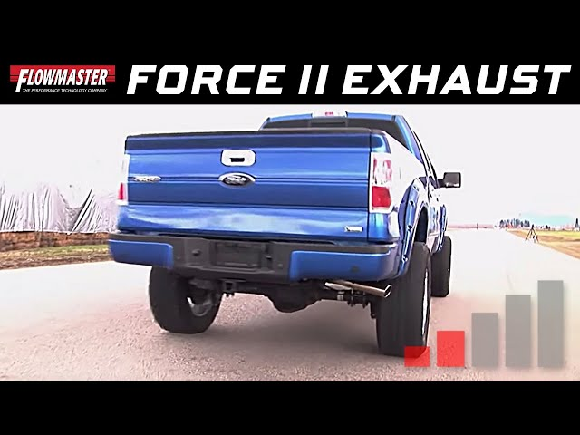 2009 to 2014 Ford F150 4.6L / 5.4L V8 - Flowmaster Force II Cat-back Exhaust System - PN 817509