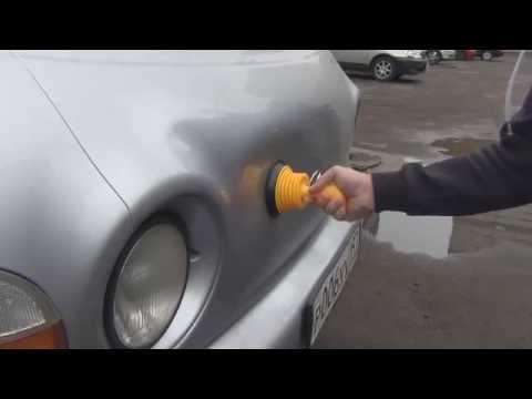 Чем убрать вмятины на машине своими руками