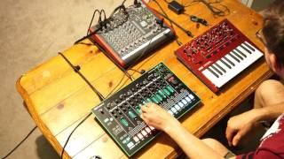 KORG Monologue and Roland TR-8