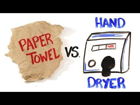 Paper Towel vs Hand Dryers